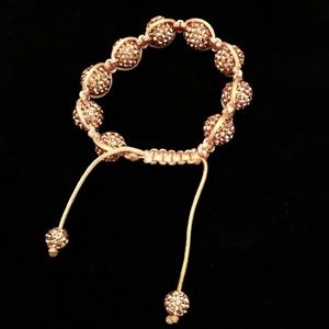 5 For $15  Pink Pave Disco Ball Macrame Bracelet